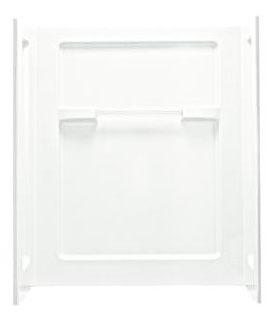 "Advantage 3-Piece Corner Shower Wall Set, Solid Vikrell 48"" X 35-1/4"" X 56"" White/Swirl-Gloss"