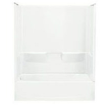 4-Piece Left Hand Tub and Shower Module - Performa, High-Gloss White
