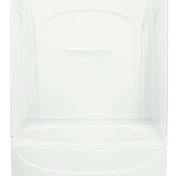 4-Piece Left Hand Tub and Shower Module - Acclaim, High-Gloss White