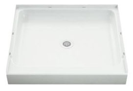 "Ensemble Rectangle Shower Receptor, Solid Vikrell 36"" X 34"" White/High-Gloss"
