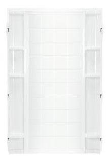 "Ensemble Modular/Back/Corner Shower Enclosure Back Wall, Solid Vikrell 36"" x 72-1/2"" White/High-Gloss"