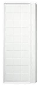 "Ensemble Modular/Alcove Shower Enclosure End Wall Set, Solid Vikrell 35-1/4"" x 72-1/2"" White/High-Gloss"