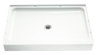 "Ensemble Rectangle Shower Receptor, Solid Vikrell 48"" X 34"" White/High-Gloss"