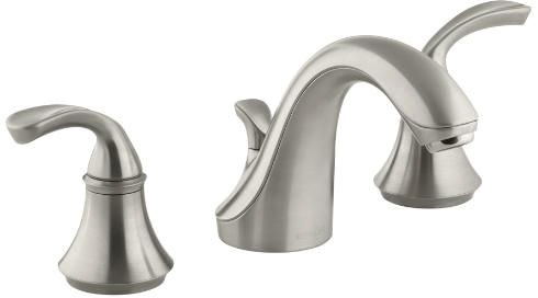 Forte Sculpted Widespread Lavatory Faucet Vibrant Brushed Nickel
