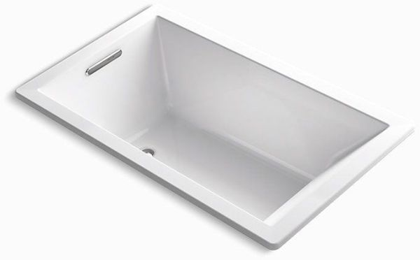 "Underscore Drop-In Mount Bathtub, Acrylic 60"" X 36"" White"