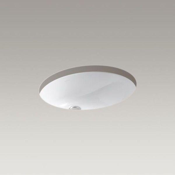 "19-1/4"" x 16-1/4"" Undermount Bathroom Sink - Caxton, White, Vitreous China"