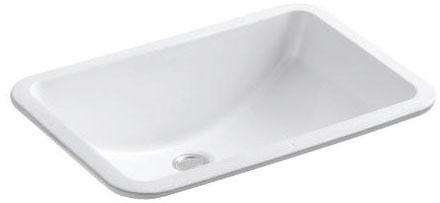Ladena 18X12 Undercounter Lavatory White