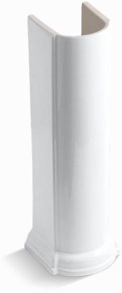 "Devonshire Bathroom Sink Pedestal, Vitreous China 26-1/2"" White"
