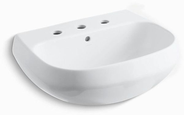 "Wellworth Pedestal Mount Bathroom Sink, Vitreous China 22-1/4"" X 18-1/4"" White"