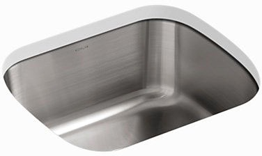 "Undertone Undermount Kitchen Sink, Stainless Steel 18-1/2"" X 15-3/4"" X 8"""