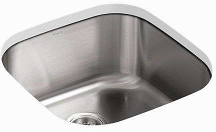"Undertone Undermount Kitchen Sink, Stainless Steel 19-5/8"" X 19-5/8"" X 9-3/4"""