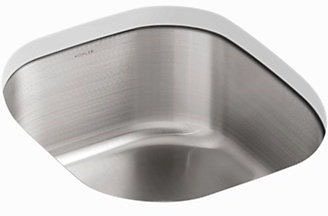 "Undertone Undermount Kitchen Sink, Stainless Steel 15-1/2"" X 17-1/8"" X 7-5/8"""