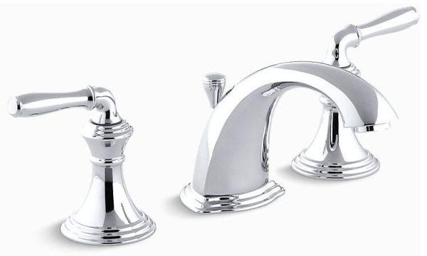 Devonshire Widespread Lavatory Faucet Lever Polished Chrome