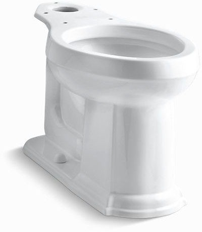 Devonshire, Comfort Height Elongated Toilet Bowl, Vitreous China 1.28 GPF White