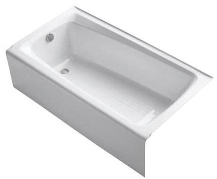 Mendota 5' Bath Left Outlet White
