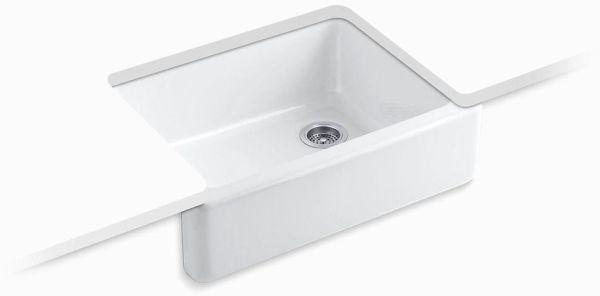 "Whitehaven Undermount Kitchen Sink, Enameled Cast Iron 29-11/16"" X 21-9/16"" X 9-5/8"""
