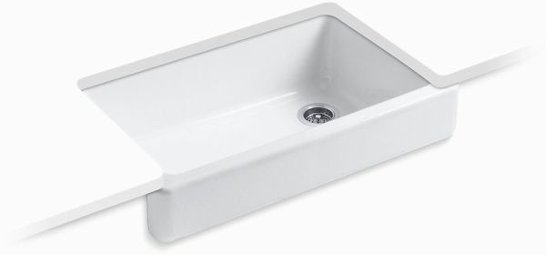 "Whitehaven, Self-Trimming Undermount Kitchen Sink, Enameled Cast Iron 35-1/2"" X 21-9/16"" X9-5/8"""