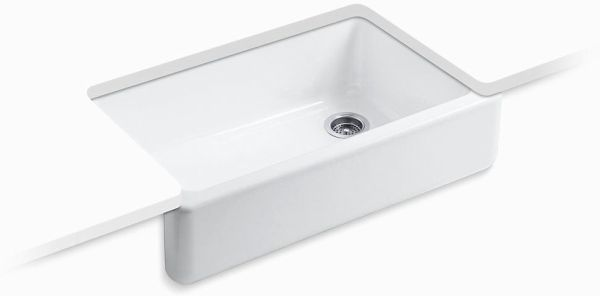 "Whitehaven Undermount Kitchen Sink, Enameled Cast Iron 35-11/16"" X 21-9/16"" X 9-5/8"""
