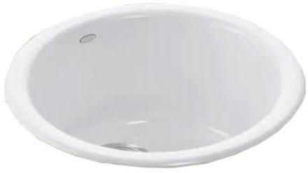Porto Fino Drop-In/Undermount Bar Sink, Enameled Cast Iron