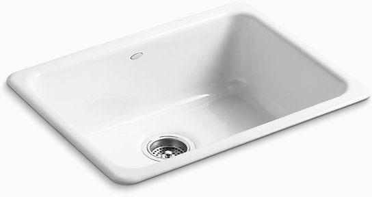 "Iron/Tones Drop-In/Undermount Kitchen Sink, Enameled Cast Iron 24-1/4"" X 18-3/4"" X 8-1/4"""