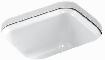 "Northland Undermount Bar Sink, Enameled Cast Iron 15"" X 12-3/8"" X 7-5/8"""