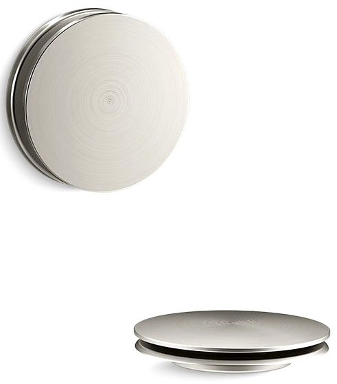 Pureflo Bath Drain Trim - Contemp Push Vibrant Brushed Nickel