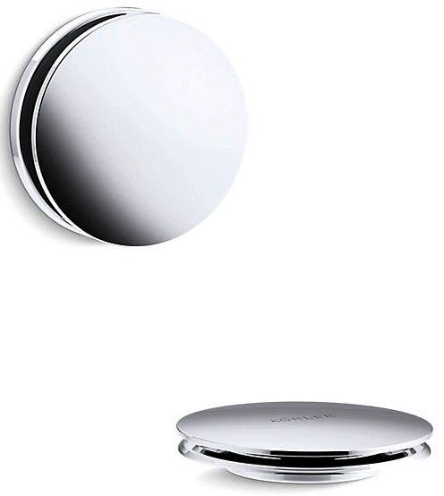 Pureflo Bath Drain Trim - Contemp Push Polished Chrome