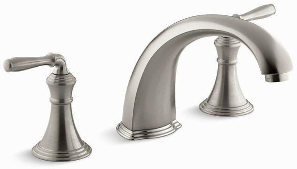 Devonshire Deck Mount Bath Faucet, Vibrant Brushed Nickel