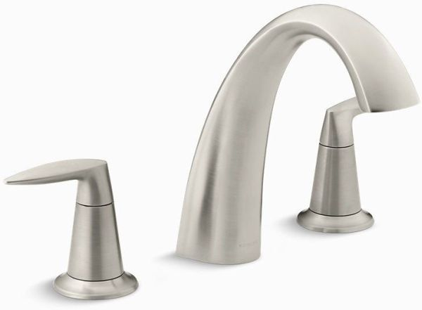 Alteo Deck Mount Bath Faucet, Vibrant Brushed Nickel