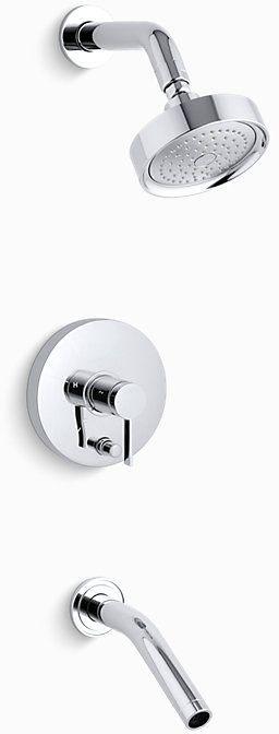 Stillness Rite-Temp Bath and Shower Trim Lever Handles Polished Chrome