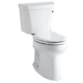 Highline, Comfort Height Gravity-Assisted Toilet, Vitreous China 1.28 GPF White, RH Trip Lever