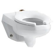 Wall Mount Elongated Toilet Bowl - Kingston, White, 1.6 Gpf