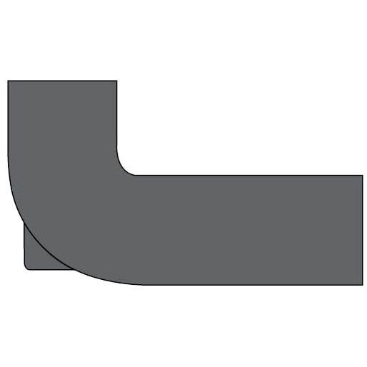 "3"" X 4"" X 10"" X 15"" Cast Iron DWV Closet Reducing 90D Elbow"