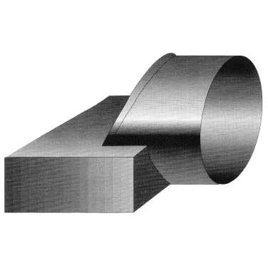 "11.5"" x 9"" x 3"" Steel Straight Adapter"