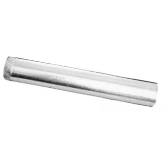 """3"""" X 10' Round Conductor Pipe, Galvanized Sheet Metal"""
