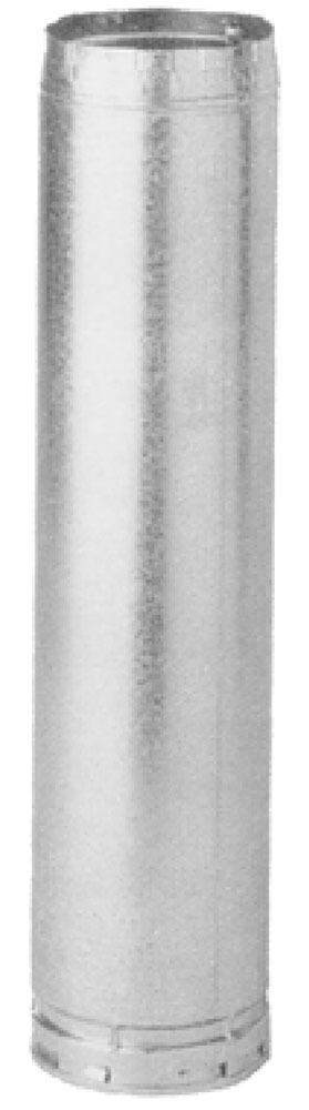 "4"" X 5' Double Wall Round Gas Vent Pipe, Aluminum Alloy/Galvanized Steel"