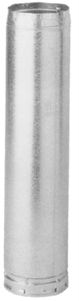 """3"""" X 5' Double Wall Round Gas Vent Pipe, Aluminum Alloy/Galvanized Steel"""