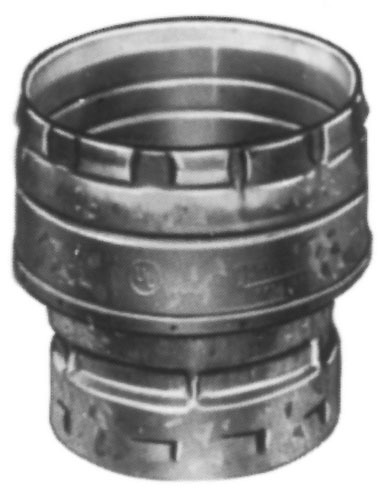 "4"" X 3"" Round Gas Vent Increaser, Galvanized Steel/Aluminum Alloy"