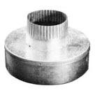 """6"""" X 4"""" Bell Gas Vent Reducer, Sheet Metal"""