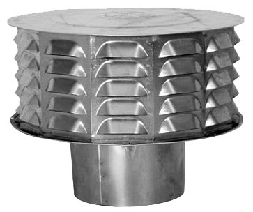 "5"" Round Gas Vent Cap, Sheet Metal"