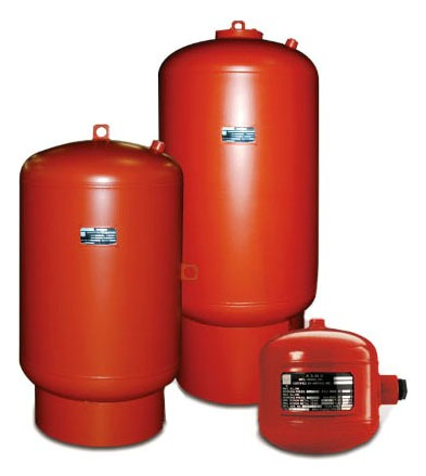 Vertical In-Line Water Heater Expansion Tank, Lead-Free Urethane Topcoated Steel