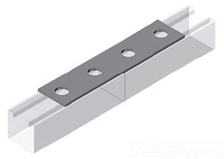 Splice Cross Channel Flat Fitting, Steel