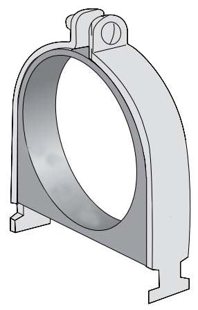 """7/8"""" Outer Diameter Carbon Steel 2-Piece 2-Hole Cushion Tube Clamp"""