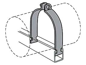 """7/8"""" Outer Diameter, 3/4"""" Tube Steel 2-Piece 2-Hole Tube Clamp"""