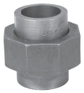 "1-1/2"" Carbon Steel Straight Union"