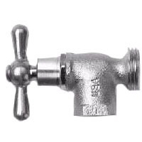 "1/2"" x 3/4"" Brass Washing Machine Valve - T-Handle, FPT x MHT"