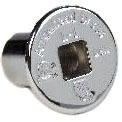 Log Lighter Threaded Flange, Chrome Plated