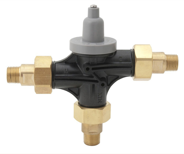 "1/2"" Threaded/Soldered Thermostatic Mixing Valve, Glass-Filled Polysulfone"