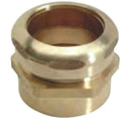 """1-1/2"""" Rough Brass Female Straight Connector - Compression x FPT"""