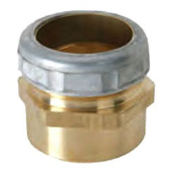 """1-1/2"""" Rough Brass Female Straight Connector - Compression x C"""